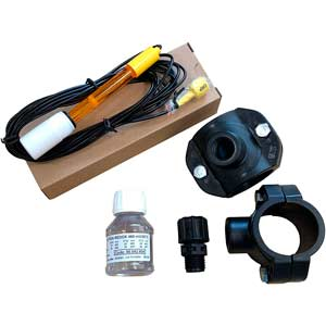 Sonda para medir pH con accesorios de montaje