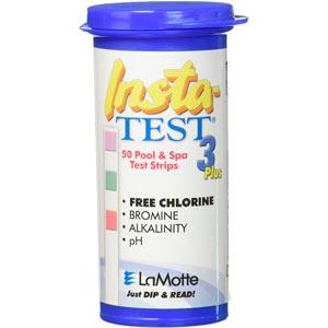 Tiras reactivas para medir cloro, ph y alcalinidad,